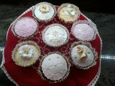 Mis Cupcakes Vintage de vainilla.