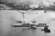 """The Caspian Sea Monster, also known as the """"Kaspian Monster"""", was an experimental ekranoplan, developed at the design bureau of Rostislav Alexeyev in 1966."""