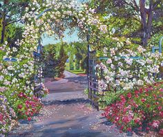 Rose Arbor, Blooming Rose, Garden Painting, Impressionist Paintings, All Wall, Botanical Gardens, Are You Happy, Instagram Images