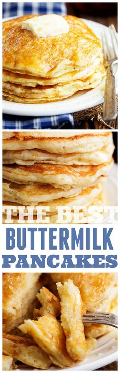 The BEST and only Buttermilk Pancake Recipe you will ever need! Perfectly fluffy and full of flavor!