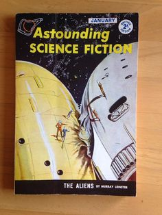 Vintage Astounding science fiction pulp magazine January 1960 An attractive copy of one of the great vintage Science Fiction pulp magazines from January 1960 with stories by Murray Leinster and Anne Walker amongst others. British Edition. Slight wear & slight creasing to spine, covers & corners.   https://nemb.ly/p/S1E54nYzl Happily published via Nembol