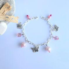 Wedding Bracelets, Flower Girl Bracelets, Butterfly Bracelet, Stackable Bracelets, Charm Bracelets, Pearl Bracelet, Beautiful Gifts For Her, Amazing Gifts, Handmade Accessories