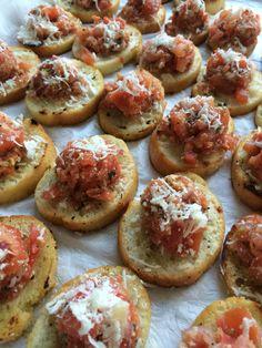 Bruschetta on toasted crouton