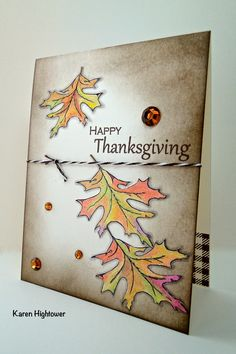 Always Autumn stamp set by Theresa Momber for Gina K Designs. Spectrum Noir Pencils. Gina K Designs Ink Paper and Twine was also used. http://www.shop.ginakdesigns.com