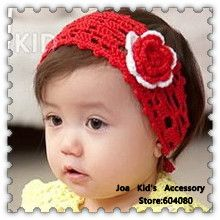 Flower Weave Baby Girls Crochet Hairbands,Knitting Flower Pattern Baby Headband,Baby Flower Hair Accessories,FS094+Free Shipping $19.62