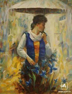 Под зонтом. Купить работы автора – Рожанский Анатолий - Art Auction ArtsLand