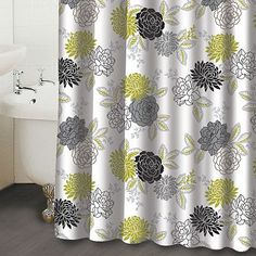 Waverly Cheri Floral Shower Curtain- Would be super cute with my black bathroom cabinets.