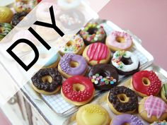 PetitPlat Handmade Miniature Food: How to Make Miniature Donuts - Free Tutorial