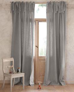 ein fenster mit sanela gardinenpaar in grau. | ikea | pinterest ...