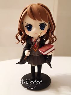 Polymer Clay chibi nendoroid Harry Potter character Hermione Granger kawaii