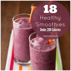 18 healthy smoothies under 200 calories