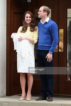 Prince William, Duke of Cambridge and Catherine, Duchess Of Cambridge depart the Lindo Wing with their new baby daughter at St Mary's Hospital on May 2, 2015 in London, England. The Duchess was safely delivered of a daughter at 8:34am this morning weighing 8lbs 3oz.