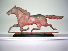 "A ""Running Horse"" Copper Weathervane in Early Paint-1870-1900.    Sold   Ebay    1525.00.       ~♥~"