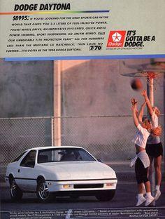 1988 Dodge Daytona mine was black cherry