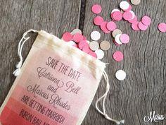 Muslin Wedding Confetti Invitations - by Misiu on madeit