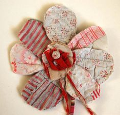 Fabric Flower Brooch by Mandy Pattullo