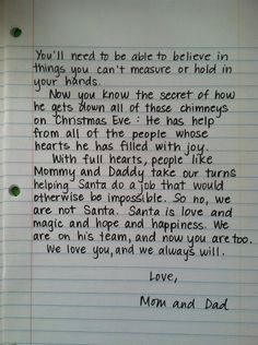 Santa Letter, for when the kids find out!