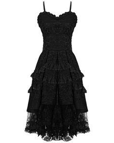 Dark In Love Gothic Prom Dress Black VTG Steampunk Victorian Lace Evening Formal #DarkInLove #Goth #Casual