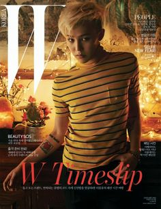 G-Dragon en portada triple para W Korea Enero 2014 | Male Fashion Trends