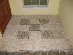 M. S. International Inc. Floral Blend Medallion 12 in. x 12 in. Tumbled Marble Floor & Wall Tile