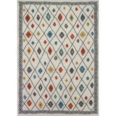 Better Homes and Gardens Bright Global Diamonds Print Area Rug  |  7' x 9'  |   $79.99 | Walmart