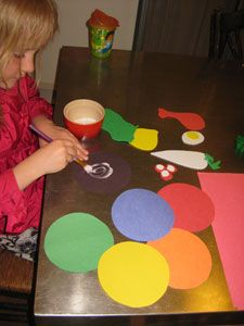 Passover craft- making a Seder placemat