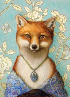 Soft-Touch Matte Magnets Fox Spirit, Red Fox, Pet Portraits, Fox Illustration, Graphic Art, Fox Art, Whimsical Art, Fashion Art, Fantasy Art