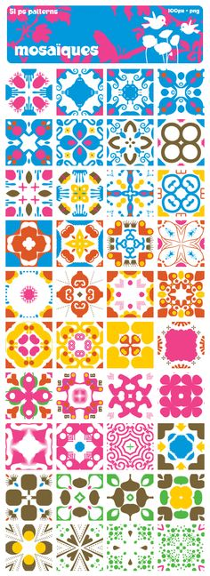 mosaiques PS patterns by mae-b.deviantart.com on @deviantART