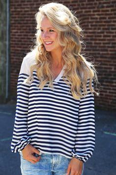 Vintage Savannah Tunic {Navy}