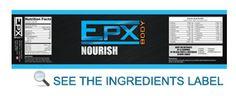 EPX Body Nourish amazing ingredients.