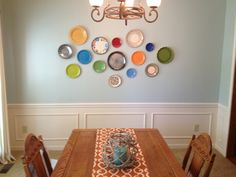Plate wall in dining room!