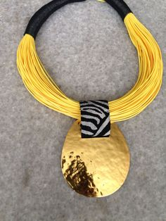 Choosing A Pearl Necklace Yellow Jewelry, Funky Jewelry, Tribal Jewelry, Leather Jewelry, Diy Jewelry, Beaded Jewelry, Jewelery, Unique Jewelry, Jewelry Necklaces