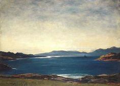SIR DAVID YOUNG CAMERON (1865-1945) - Evening, Firth of Lorn (Scotland)