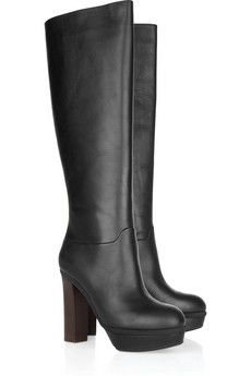 Marni - Leather knee boots