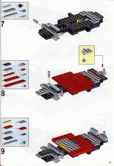 LEGO 5591 Mach II Red Bird Rig instructions displayed page by page to help you build this amazing LEGO Model Team set Lego Truck, Lego Models, Lego Instructions, Cool Lego, Lego Building, Lego Sets, Rigs, Cars And Motorcycles, Trucks