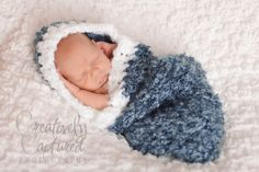 CROCHET PATTERN  Newborn Hooded Cocoon Welcome to sell all finished items. $4,99, via Etsy.