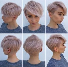 Today we have the most stylish 86 Cute Short Pixie Haircuts. We claim that you have never seen such elegant and eye-catching short hairstyles before. Pixie haircut, of course, offers a lot of options for the hair of the ladies'… Continue Reading → Haircuts For Fine Hair, Short Pixie Haircuts, Cute Hairstyles For Short Hair, Short Hair Cuts For Women, Short Hair Styles, Blonde Haircuts, Short Hair Hacks, Undercut Hairstyles Women, Pixie Hairstyles