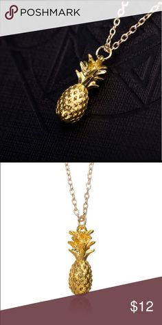 "Hipster Cute Pineapple Charm Necklace Trendy Fashion Necklace! Pineapple pendant is approximately 0.43"" x 1.15"" and necklace is about 23.5""! Perfect birthday gift! Comes in lovely gift box! Jewelry Necklaces"