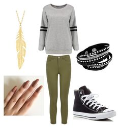 """""""Emily Fields"""" by ania-kondrat on Polyvore featuring Warehouse and Converse"""