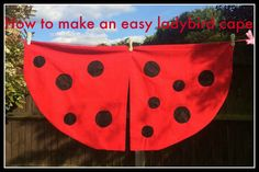 Lovely summer craft idea for children: ladybird cape