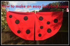 Lovely summer craft idea for children: ladybird cape