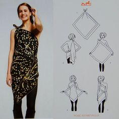 How to wear a scarf. Very creative!! I'm thinking swimsuit cover?