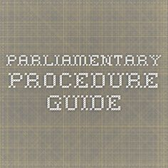 The Complete Idiot's Guide to Parliamentary Procedure Fast ...