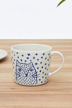 Large Milo Cat Mug - Urban Outfitters