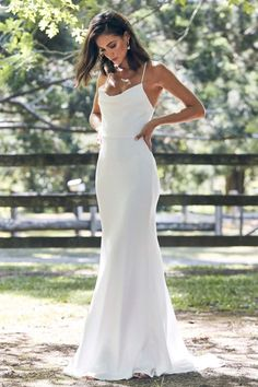 The Honey wedding dress oozes sophistication. A luxurious double-layered Crepe de Chine silk gown,. Shop online or book a bridal showroom appointment today! Outdoor Wedding Dress, Modest Wedding Dresses, Bridal Dresses, Casual White Wedding Dress, Wedding Dress Simple, Wedding Reception Dresses, Maxi Dresses, Beach Wedding Dresses, Silky Wedding Dress