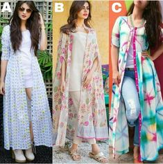 Aid an occurrence look with a lovely signal to produce a stunning dress. Kurti Designs Party Wear, Kurta Designs, Blouse Designs, Dress Designs, Dress Indian Style, Indian Dresses, Indian Wear, Casual Skirt Outfits, Chic Outfits