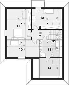 Projekt domu Maja 133,72 m2 - koszt budowy - EXTRADOM Three Bedroom House, Bungalow, How To Plan, Villa, Floor Plans, Construction, Projects, Interior, Home