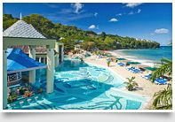 Sandals Resorts in Jamaica, Bahamas, Antigua and St. Lucia to renew our wedding vows.