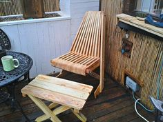 Stylish + Unique Pallet patio Chair – Pallet Office Chair - DIY Recycled #Pallet #Adorable #Chair Ideas | 99 Pallets