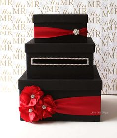 Items similar to Wedding Card Box, Money Box, Gift Card Holder - choose your box & flower colors on Etsy Money Box Wedding, Card Box Wedding, Red Wedding, Wedding Ideas, Wedding Colors, Table Cadeau, Design Your Own Card, Gift Card Boxes, Gift Table